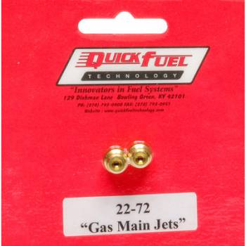 Quick Fuel Technology - Quick Fuel Technology #72 Main Jets - Pack of 2