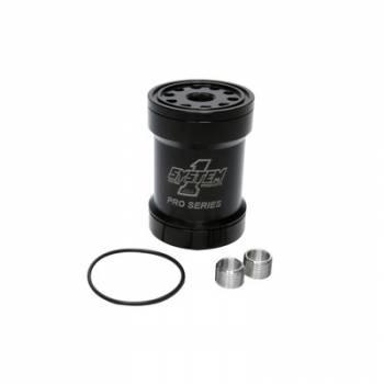 System 1 - System 1 Billet Oil Filter w/Blt Cap 45 Micron - Black