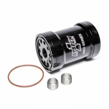 System 1 - System 1 Billet Oil Filter w/Blt Cap 75 Micron - Black