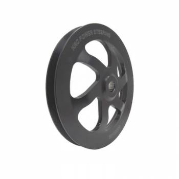 "KRC Power Steering - KRC 6.0"" V-Belt Power Steering Pump Pulley - GM Offset - (For KRC Cast Iron Pumps Only)"