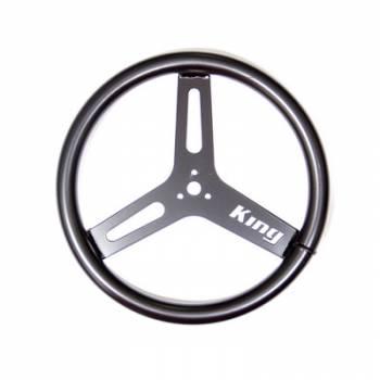 """King Racing Products - King Big Tube Aluminum Steering Wheel (Black) - 15"""" Diameter"""