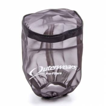 """Outerwears Performance Products - Outerwears Breather Pre-Filter w/ Top - Black - 3-1/2"""" Diameter x 6"""" Tall"""