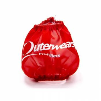 """Outerwears Performance Products - Outerwears 3"""" Non-Shielded Crank Breather Pre-Filter w/o Top - Red"""