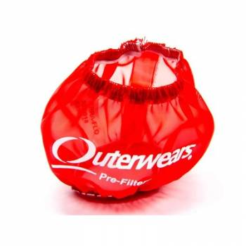 """Outerwears Performance Products - Outerwears 3"""" Shielded Crank Breather Pre-Filter w/o Top - Red"""