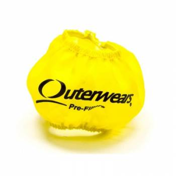 "Outerwears Performance Products - Outerwears 3"" Breather w/Shield Pre-Filter - Yellow"