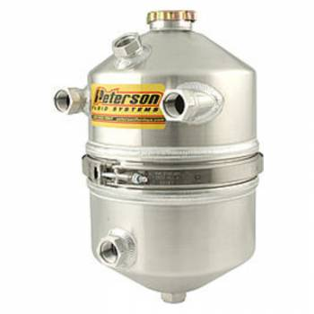 Peterson Fluid Systems - Peterson 3 Gallon Dual Scavenge Inlet Dry Sump Oil Tank