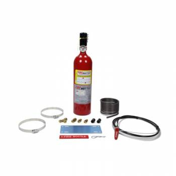 Firebottle Safety Systems - Fire Bottle Fire Suppression System - 5 Lb - Pull, Cable Activated - Aluminum - Dupont FE36