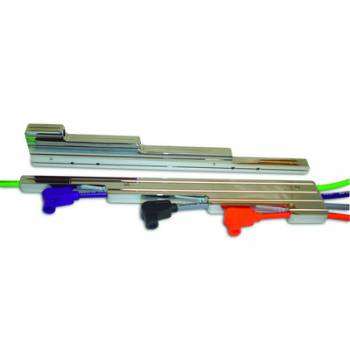 Taylor Cable Products - Taylor Billet Aluminum Wire Separator - Horizontal, Ball-Milled Design