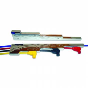 Taylor Cable Products - Taylor Billet Aluminum Wire Separator - Horizontal, Flamed Design