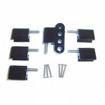 Taylor Cable Products - Taylor Spark Plug Wire Separator Bracket - Vertical, Black (BB Chevy, Ford)