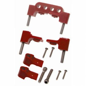 Taylor Cable Products - Taylor Spark Plug Wire Separator Bracket - Horizontal, Red (SB Chevy, Chrysler)