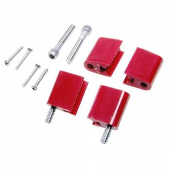 Taylor Cable Products - Taylor Spark Plug Wire Separator Bracket - Vertical, Red (SB Chevy, Chrysler)