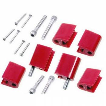 Taylor Cable Products - Taylor Spark Plug Wire Separator Bracket - Vertical, Red (BB Chevy, Ford)