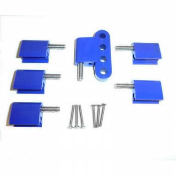 Taylor Cable Products - Taylor Spark Plug Wire Separator Bracket - Vertical, Blue (BB Chevy, Ford)