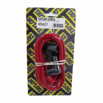 Taylor Cable Products - Taylor 8mm Spiro Pro Spark Plug Wire Repair Kit - Includes 135 Degree Plug Boot/Terminal(Red)