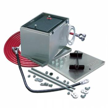 Taylor Cable Products - Taylor Aluminum Battery Box w/ 16 ft. 1 Gauge Battery Cable Kit -