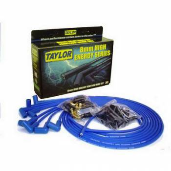 Taylor Cable Products - Taylor 8mm High Energy Ignition Wire Set - Custom Fit(Blue)
