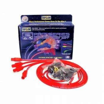 Taylor Cable Products - Taylor 8mm Spiro Pro Ignition Wire Set - Universal Fit(Red)