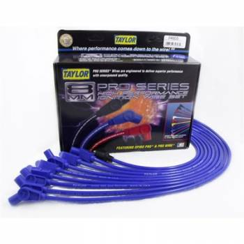 Taylor Cable Products - Taylor 8mm Spiro Pro Ignition Wire Set - Custom Fit- without HEI(Blue)