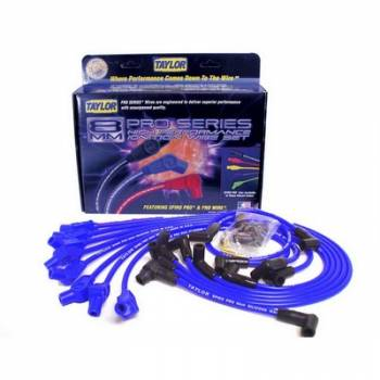 Taylor Cable Products - Taylor 8mm Spiro Pro Ignition Wire Set - Custom Fit(Blue)