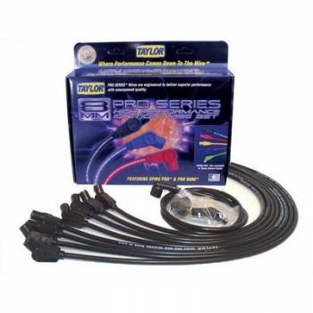 Taylor Cable Products - Taylor 8mm Spiro Pro Ignition Wire Set - Race Fit(Black)