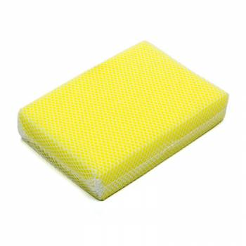 Advanced Technology Products - ATP Sponge Scrubber - Bug-Gone Scrubber - Mesh Covered Sponge - White / Yellow -