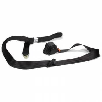 Beams Seatbelts - Beams Seatbelts 3 Pt Retractable Seat Belt Black Bucket Seat