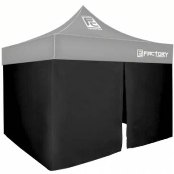 Factory Canopies - Factory Canopies Wall Kit Black 10 Ft. x 10 Ft. Canopy