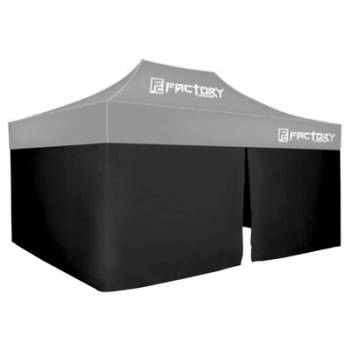 Factory Canopies - Factory Canopies Wall Kit Black 10 Ft. x 15 Ft. Canopy