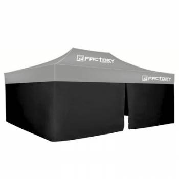 Factory Canopies - Factory Canopies Wall Kit Black 10 Ft. x 20 Ft. Canopy