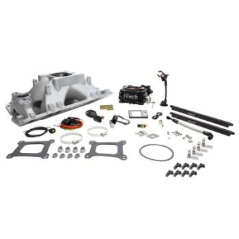 Fitech Fuel Injection - FiTech Go Port SB Chevy 500-1050hp EFI System w/Black TB
