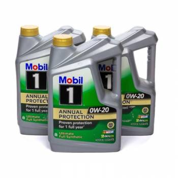 Mobil 1 - Mobil 1 0w20 Synthetic Oil Case 3x5 Quart Annual Protection