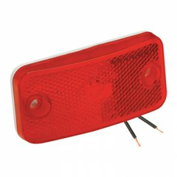 Reese Hitches - Reese Clearance Light #59 Red with Reflex w/White Base