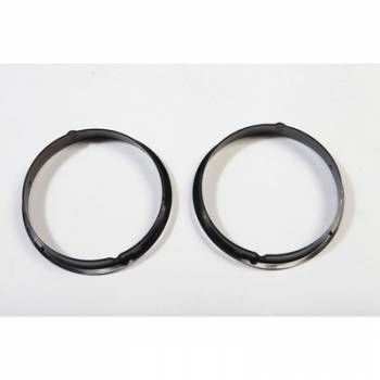 Rugged Ridge - Rugged Ridge Black Headlight Bezels 97-06 Jeep Wrangler TJ