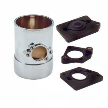 "Spectre Performance - Spectre Air Flow Sensor Mount 3"" w/Collar Chrome"