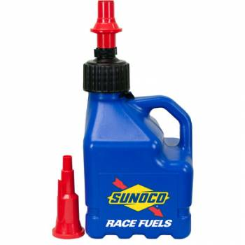 Sunoco Race Jugs - Sunoco 3 Gallon Utility w/ FastFlo Lid & Vehicle Tank Adaptor - Blue