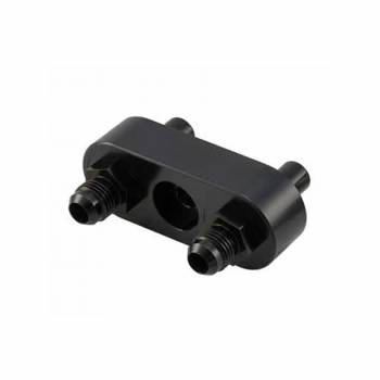 Bowler Performance Transmission - Bowler GM 6L80E Cooler Manifold Set - Converts To -6 Black