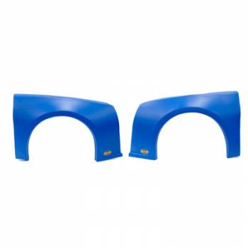 Dominator Racing Products - Dominator Camaro Street Stock Fender Kit - Molded Plastic - Blue - Left and Right