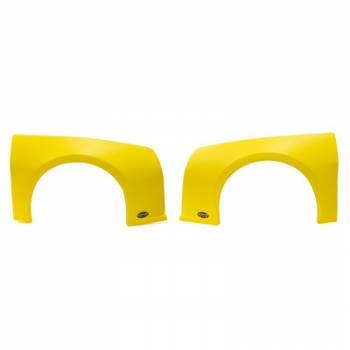 Dominator Racing Products - Dominator Camaro Street Stock Fender Kit - Molded Plastic - Yellow - Left and Right