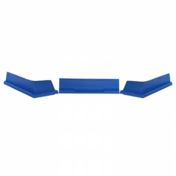 Dominator Racing Products - Dominator Air Valance - Dirt Modified - 3 Piece - Molded Plastic - Blue