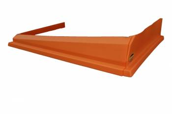 Dominator Racing Products - Dominator Air Valance - Dirt Modified - 3 Piece - Molded Plastic - Orange