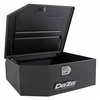 """Dee Zee - Dee Zee Aluminum Diamond Plate Toolbox - 37 x 31 x 13"""" - Black Powder Coat - Rear Mount - Jeep Wrangler JK / JL 2007-19"""