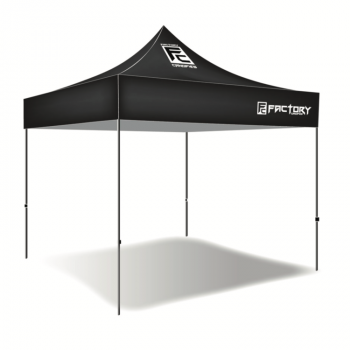 Factory Canopies - Factory Canopies Pro Grade Canopy Top - 10 x 10 Ft. - Fire / Water Resistant Fabric - Black