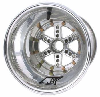 "Keizer Aluminum Wheels - Keizer Micro / Mini Sprint 27 Spline Wheel - 10 x 10"" - 4.000"" Back Spacing - Polished"