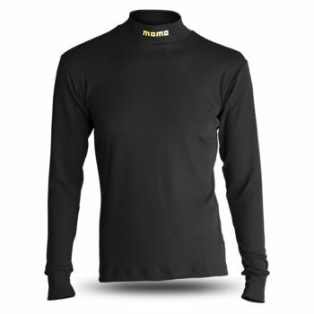Momo - Momo Comfort Tech Underwear Top - Long Sleeve - Crew Neck - Nomex - Black - Large