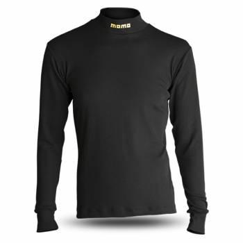 Momo - Momo Comfort Tech Underwear Top - Long Sleeve - Crew Neck - Nomex - Black - Medium