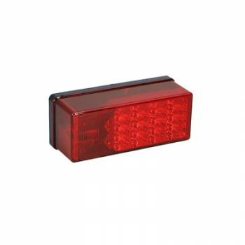 """Reese Hitches - Reese LED Waterproof Wrap-Around Taillights - For Trailers Over 80"""" Wide - Plastic - Red Lens"""