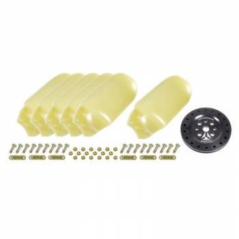 """Race Fan - Race Fan 17"""" Fan - 6 Blade Bolt Pattern - Aluminum Hub / Plastic Blades - Black / Natural"""