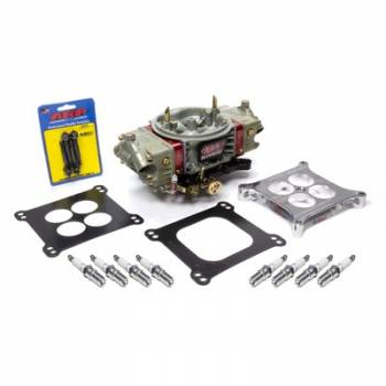Willy's Carburetors - Willy's Carburetors GM604 Crate Engine Power Kit - 4-BBL - 750 CFM - Square Bore - No Choke - Mechanical Secondary - Dual Inlet - Fasteners / Gaskets / Spacer / Spark Plugs Included - Chromate - 604 Crate Engine