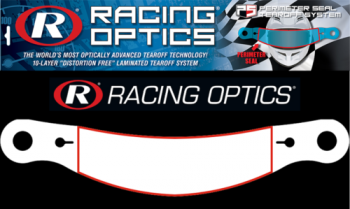 Racing Optics - Racing Optics Perimeter Seal Tearoffs - Clear - Fits Simpson Shark/ VUDO/ Devil Ray